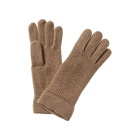 Portolano Honeycomb Stitch Cashmere Gloves