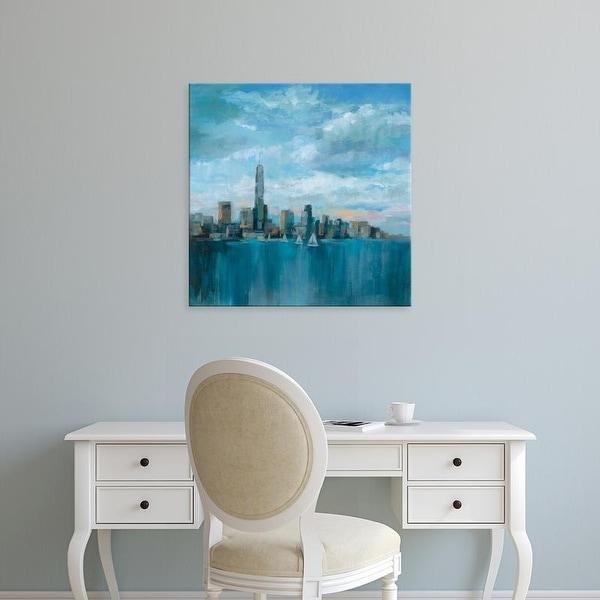 Easy Art Prints Silvia Vassileva's 'Manhattan Tower of Hope 32.5x32.5' Premium Canvas Art