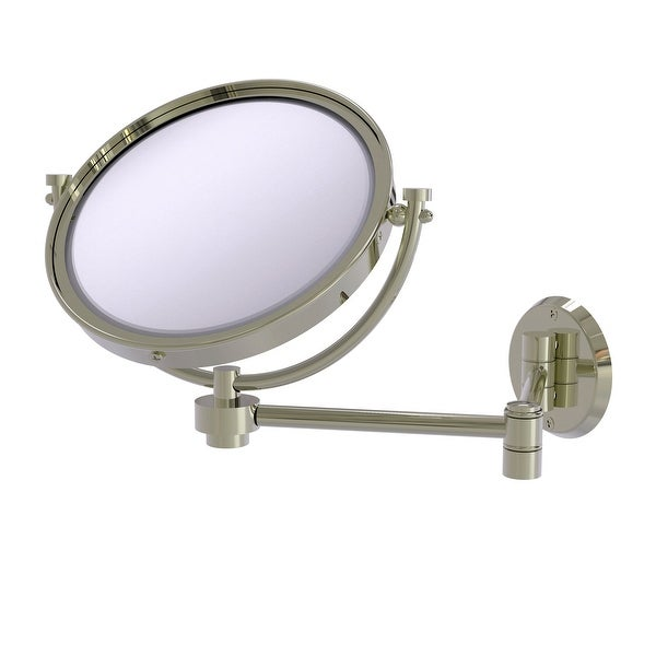 Allied Brass 8-in Wall Mounted Extending Make-Up Mirror 4X Magnification