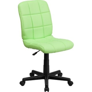 Aberdeen Mid-Back Green Quilted Vinyl Swivel Home/Office Task Chair
