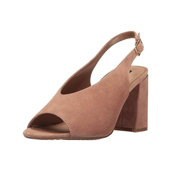 Steven By Steve Madden Womens Futures Slingback Sandals Suede Open Toe
