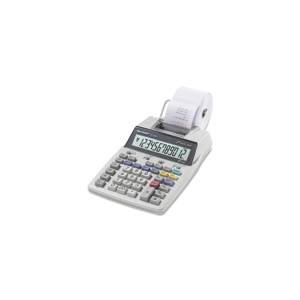 Sharp EL1750VW Sharp EL-1750V Portable Printing Calculator with Clock and Calender