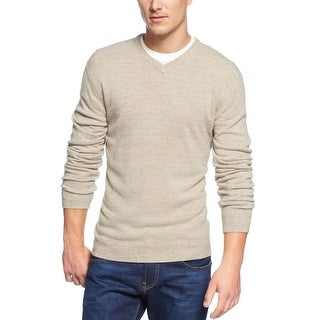 Weatherproof Soft V-Neck Sweater Oatmeal Beige Marl Small S