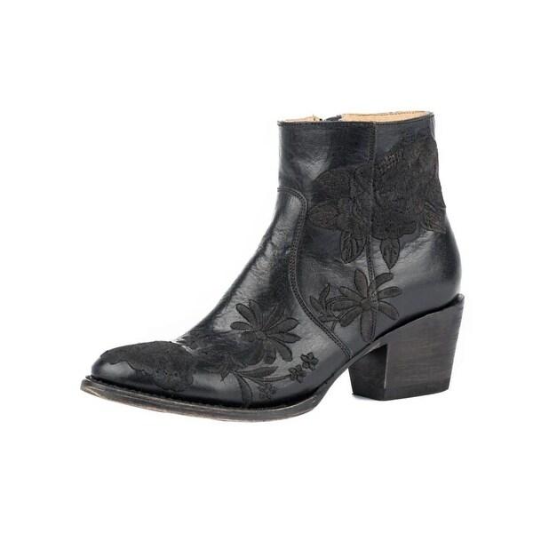 Stetson Western Boots Womens Frankie Zip Black