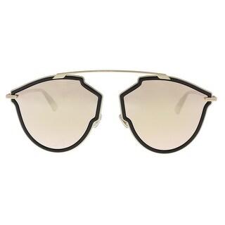 Christian Dior DIORSOREALRISE 02M2 Black Gold Irregular Sunglasses - 58-17-145