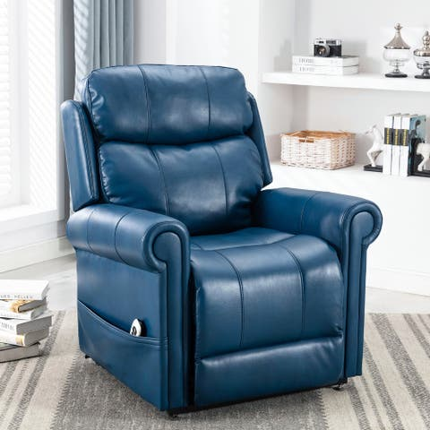 Lukas Faux Leather Lift Chair with Massage by Greyson Living
