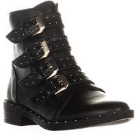 B35 Margo Buckle Zip Up Ankle Boots, Black