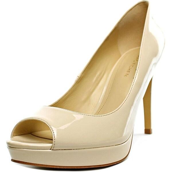 Marc Fisher Byanka 2 Women Peep-Toe Synthetic Nude Heels