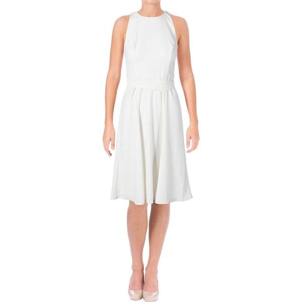 Lauren Ralph Lauren Womens Jaydina Wear to Work Dress Fit & Flare Knee-Length