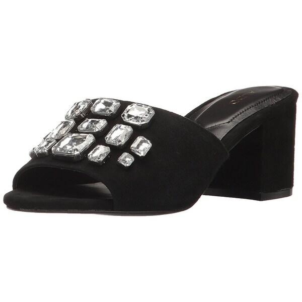 Aldo Womens Sakuraa Suede Open Toe Casual Slide Sandals