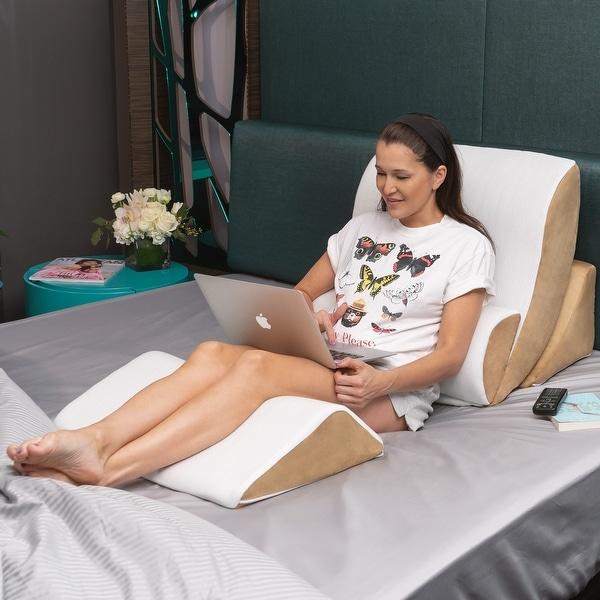 Shop Avana 4 piece Cool Gel Memory Foam Bed Wedge System   On Sale