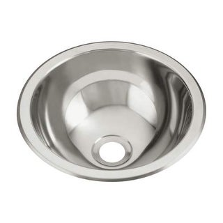 "Sterling 1411-0 13.625"" Single Basin Drop In or Undermount Stainless Steel Bar S - Stainless Steel"
