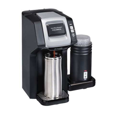 Hamilton Beach FlexBrew Dual Coffee Maker with Milk Frother