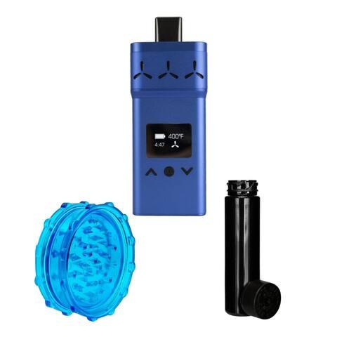 "AirVape X (Blue) w/ 420 Focus Accessory Kit - 4.1"" x 1.85"" x 0.48"""
