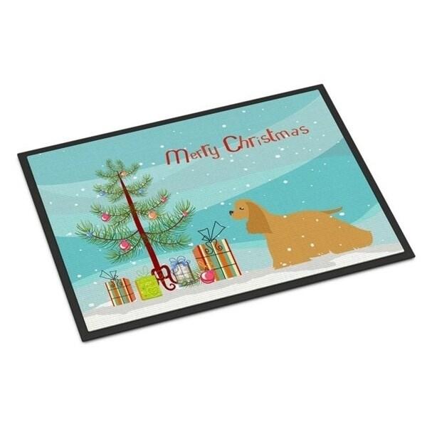 Carolines Treasures BB2904JMAT Cocker Spaniel Merry Christmas Tree Indoor or Outdoor Mat 24 x 36