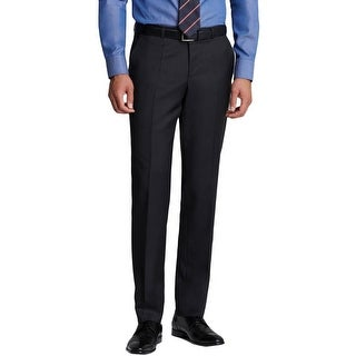 BOSS Hugo Boss Mens Sharp1 Dress Pants Virgin Wool Flat Front