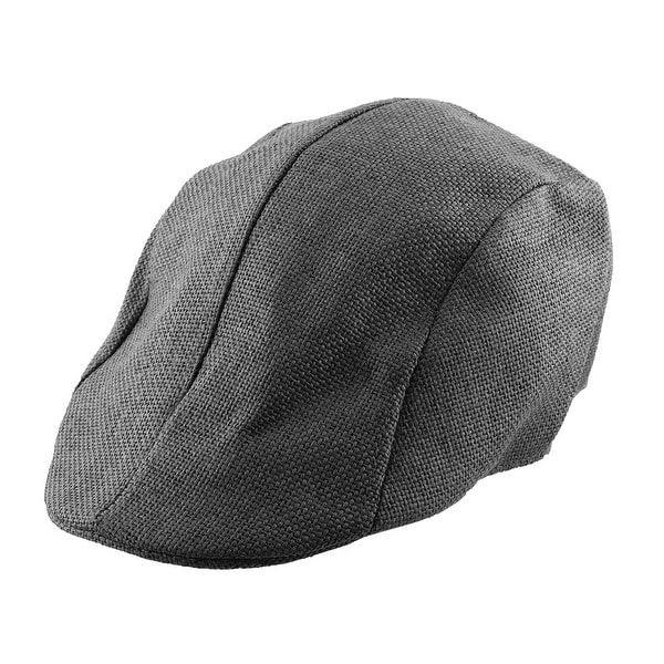 755c58c85ee Men Women Straw Ivy Cap Cabbie Driving Golf Summer Sun Mesh Flat Beret Hat  Black