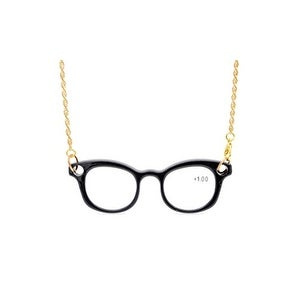 Eyekepper Mini Readers Necklace Reading Glasses Black +3.0