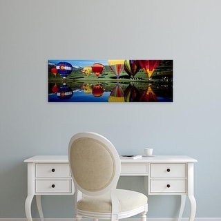 Easy Art Prints Panoramic Image 'Reflection of hot air balloons, Snowmass Village, Pitkin County, Colorado' Canvas Art