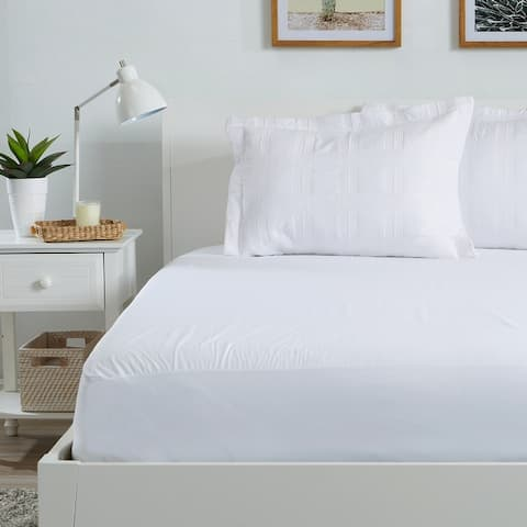 Great Bay Home Waterproof Hypoallergenic Mattress Protector - White
