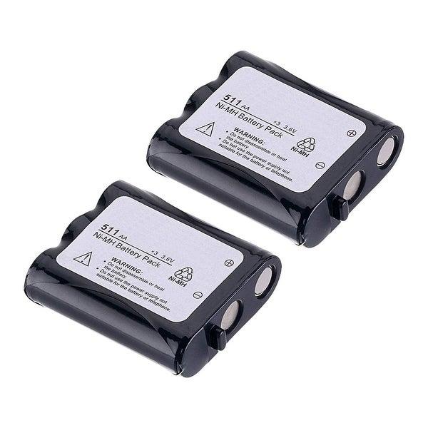 Replacement Battery For Panasonic KX-TGA510M Cordless Phones - P511 (850mAh, 3.6v, NiCD) - 2 Pack