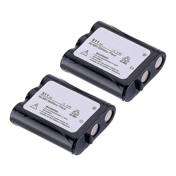 Replacement Battery For Panasonic KX-TG5100M Cordless Phones - P511 (850mAh, 3.6v, NiCD) - 2 Pack