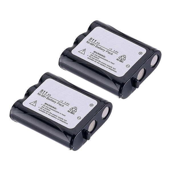 Replacement Battery For Panasonic KX-TG2257 Cordless Phones - P511 (850mAh, 3.6v, NiCD) - 2 Pack
