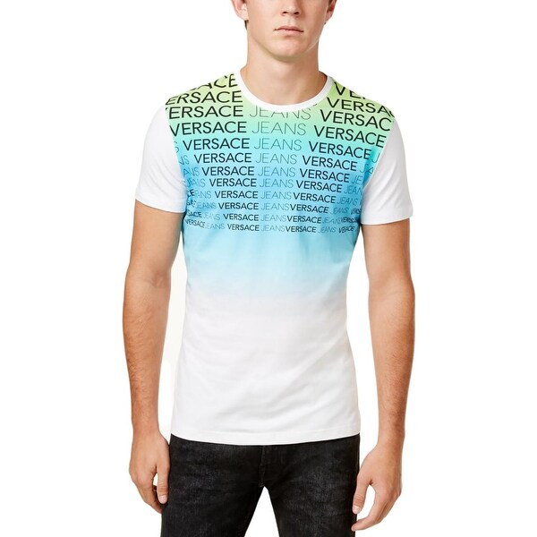 294668d40360 Shop Versace Jeans Mens T-Shirt Colorblock Ombre - L - Free Shipping On  Orders Over $45 - Overstock - 22312253