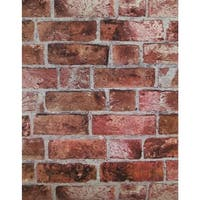 York Wallcoverings HE1044 Brick Wallpaper - N/A