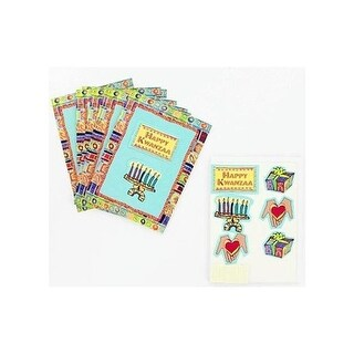 Kwanzaa note cards with envelopes pack of 8 - Case of 100