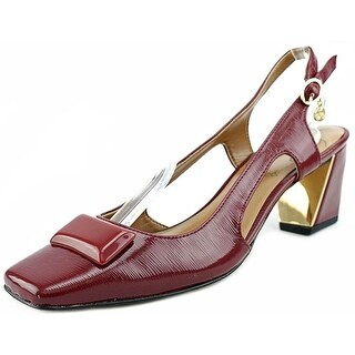 J. Renee Samina Women Square Toe Synthetic Red Slingback Heel