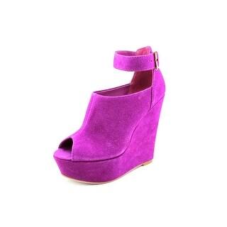 Steve Madden Kalypsso Women Open Toe Leather Wedge Heel