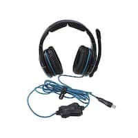 Stereo 7.1 Surround USB Gaming Headphones Headset - Blue LED (300cm-Cable)
