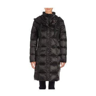 T Tahari Cassandra Black Puffer Coat