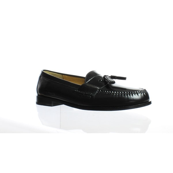 2d02b8397b7 Shop Cole Haan Mens Pinch Tassel Black Loafers Size 12 - Free ...