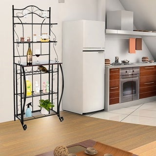 Multiuse 5-Tier Metal Kitchen Bakers Rack Microwave Stand