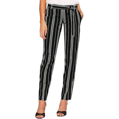 Vince Camuto Womens Stripe Casual Trouser Pants, Black, 14