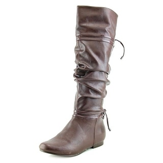 Kenneth Cole Reaction Kids No Slouch Youth Round Toe Synthetic Knee High Boot