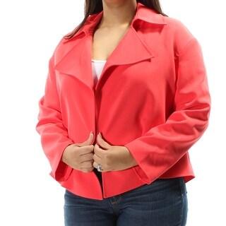 ANNE KLEIN $129 Womens New 1080 Coral Blazer Wear To Work Jacket 14 B+B