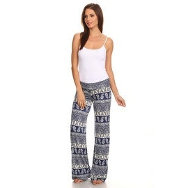 Women's Paisley Royal Printed Palazzo Pants Made in USA