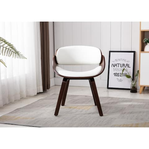 Home Beyond White Synthetic Leather Leisure Chair