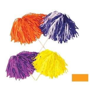 Club Pack of 144 Solid Golden Yellow Pep Rally Tissue Shaker Pom Pom Accessories