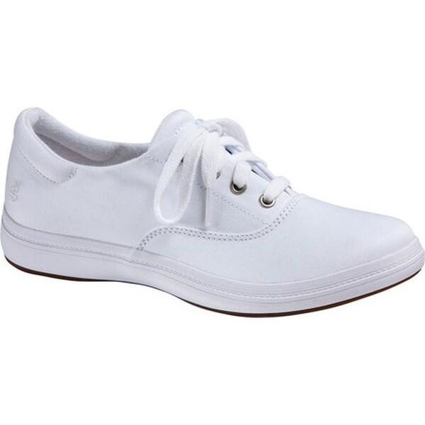 b13b5eafbcf06 Shop Grasshoppers Women's Janey II Sneaker White Stretch Twill - On ...