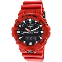 Casio Men's G-Shock  Matte Red Polyurethane Japanese Quartz Sport Watch