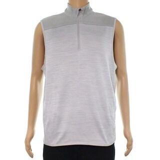 PGA Tour Rock Gray Mens Size Medium M Mixed Media Vest Jacket