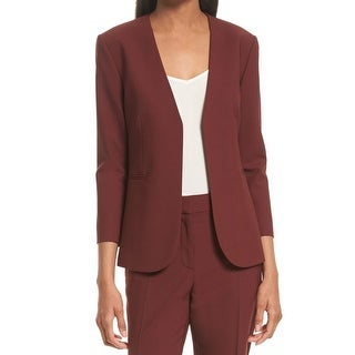 Theory NEW Red Women's Size 6 Lindrayia B Betoken Front Blazer Wool