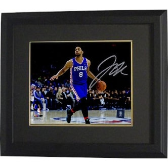 c1908bc0dda Shop Jahlil Okafor signed Philadelphia 76ers 8x10 Photo Custom Framed  horizontal blue jersey dribble - Free Shipping Today - Overstock - 19867901