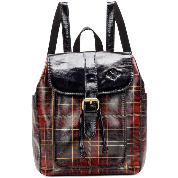 Shop Patricia Nash Aberdeen Tartan Plaid Leather Backpack Medium Red