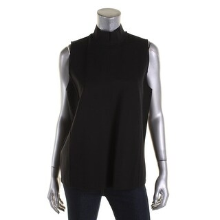 Lauren Ralph Lauren Womens Dress Top Sleeveless Mock-Neck