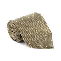 NEW Tom Ford Mens Green Pure Silk Diagonal Dot 4 Inch Wide Tie